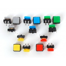 1010 - Colorful Square Tactile Button Switch Assortment - 15 pack