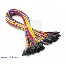1703 - Premium Jumper Wire 5-Piece 10-Color Assortment F-F 12""