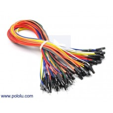1704 - Premium Jumper Wire 5-Piece 10-Color Assortment M-F 12""