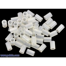1972 - Nylon Spacer: 6mm Length, 4mm OD, 2.7mm ID (50-Pack)