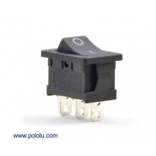 1406 - Rocker Switch: 3-Pin, SPDT, 10A