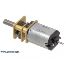 2211 - 10:1 Micro Metal Gearmotor HP 6V with Extended Motor Shaft