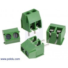 2444 - Screw Terminal Block: 2-Pin, 3.5 mm Pitch, Side Entry (4-Pack)