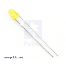 1072 - T1 (3mm) Yellow LED with Yellow Diffused Lens (10 pcs)