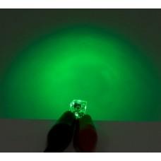 3606_0 - 5mm Four Chip Super Flux Green (Bag of 5)